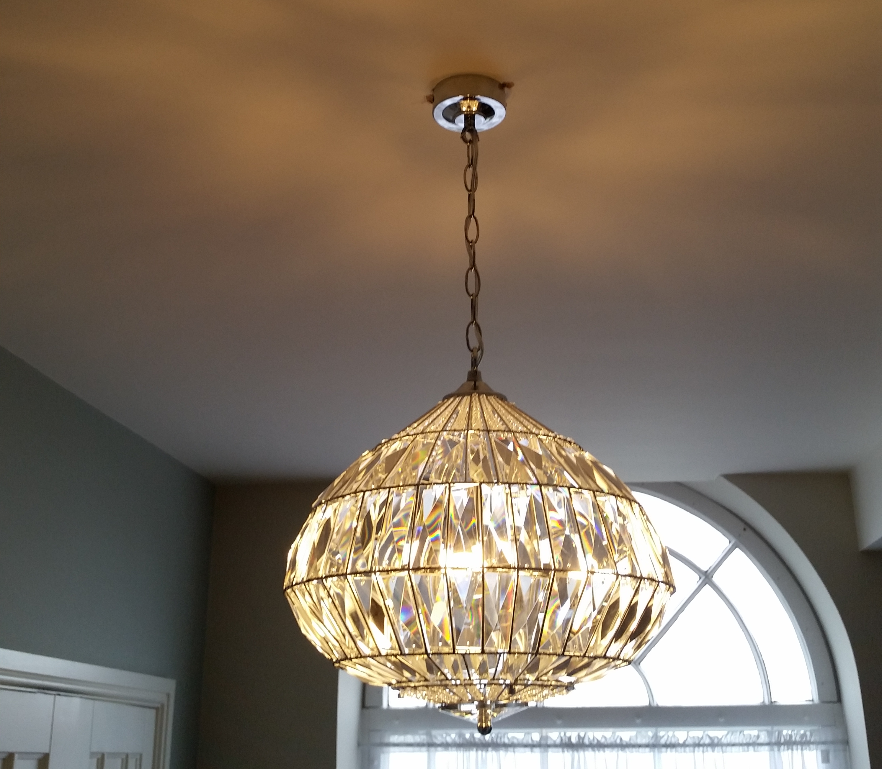 Pendant light installed in Congleton, Cheshire